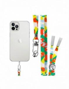 Cordón Plano para colgar el móvil (tarjeta) Multicolor Verde