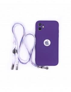 Cordón Plano para colgar el móvil (tarjeta) Morado Multicolor