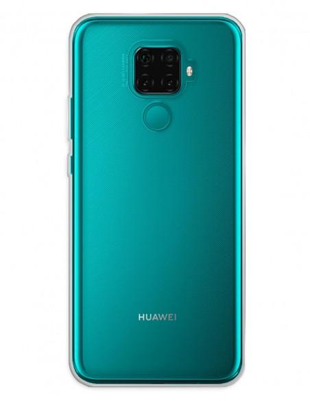 Funda Gel Silicona Liso Transparente para Huawei Mate 30 Lite