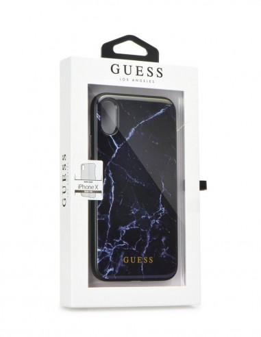 Funda Guess Mármol Negro Apple iPhone X