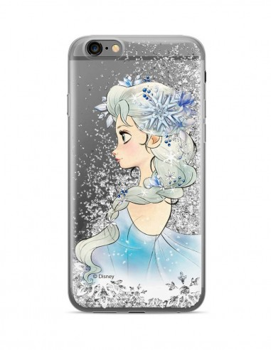 Funda Disney Elsa Purpurina Plateado Apple iPhone XR