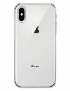 Funda Gel Silicona Liso Transparente para Apple iPhone X