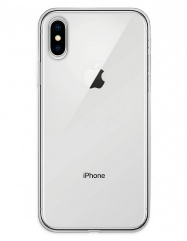 Funda Gel Silicona Liso Transparente para Apple iPhone X