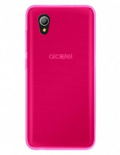 Funda Gel Silicona Liso Rosa para Alcatel 1