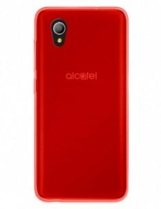 Funda Gel Silicona Liso Rojo para Alcatel 1 (2019)