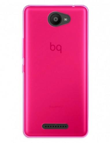 Funda Gel Silicona Liso Rosa para Bq Aquaris U