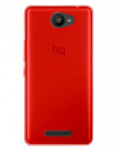 Funda Gel Silicona Liso Rojo para Bq Aquaris U Lite