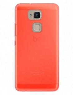 Funda Gel Silicona Liso Rojo para Bq Aquaris V Plus