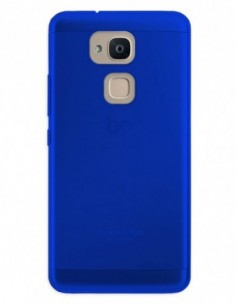 Funda Gel Silicona Liso Azul para Bq Aquaris VS Plus