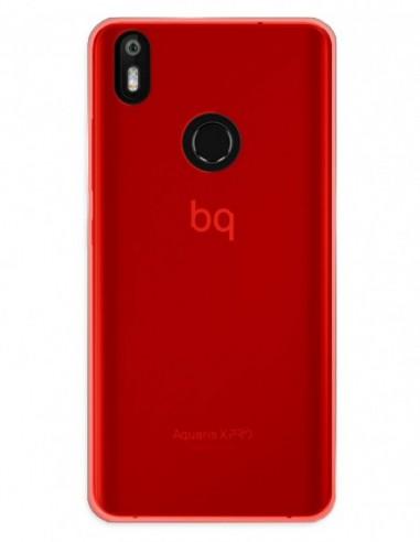 Funda Gel Silicona Liso Rojo para Bq Aquaris X