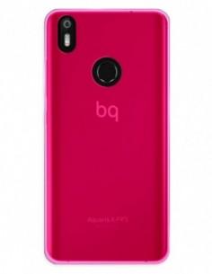 Funda Gel Silicona Liso Rosa para Bq Aquaris X