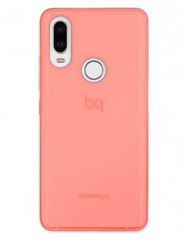 Funda Gel Silicona Liso Rojo para Bq Aquaris X2 Pro