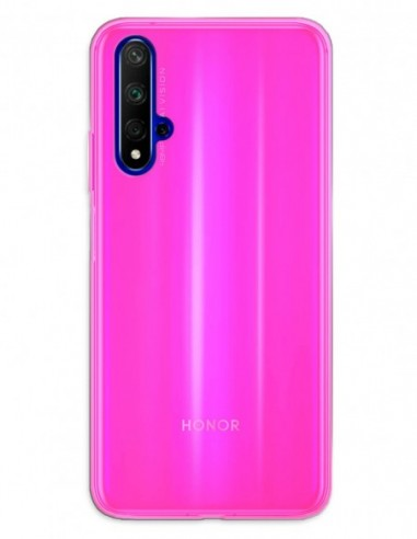 Funda Gel Silicona Liso Rosa para Honor 20