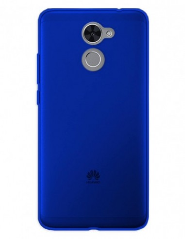 Funda Gel Silicona Liso Azul para Huawei Enjoy 7 Plus