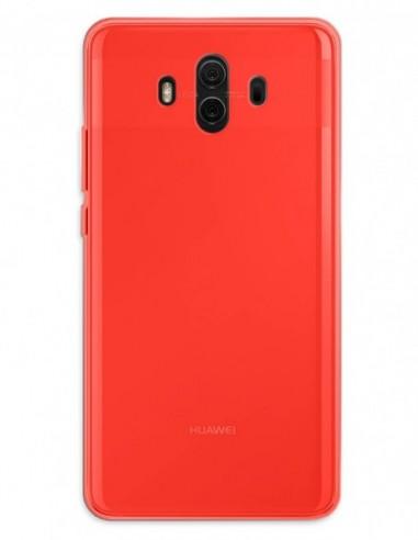 Funda Gel Silicona Liso Rojo para Huawei Mate 10