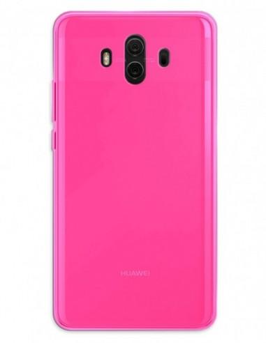 Funda Gel Silicona Liso Rosa para Huawei Mate 10