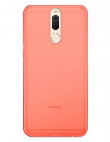 Funda Gel Silicona Liso Rojo para Huawei Mate 10 Lite