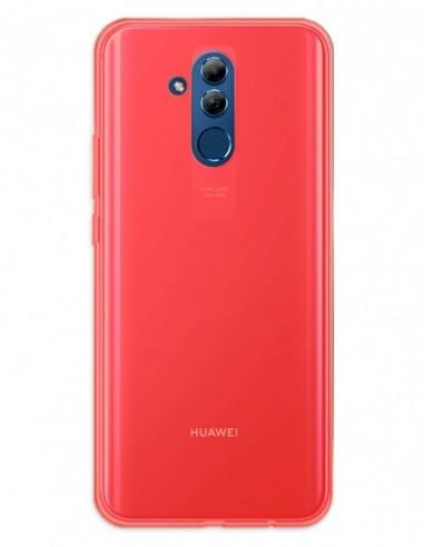 Funda Gel Silicona Liso Rojo para Huawei Mate 20 Lite