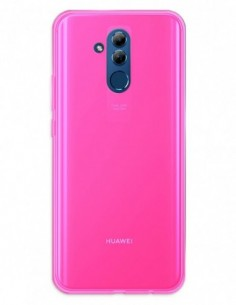 Funda Gel Silicona Liso Rosa para Huawei Mate 20 Lite