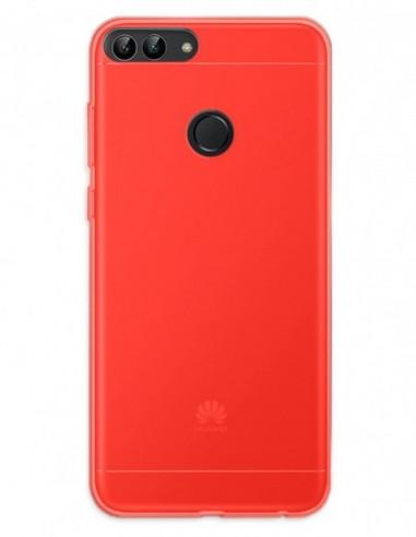 Funda Gel Silicona Liso Rojo para Huawei P Smart