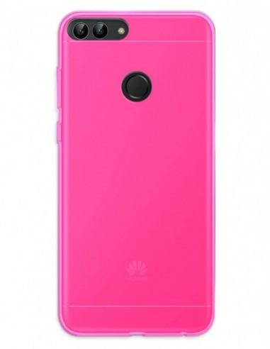 Funda Gel Silicona Liso Rosa para Huawei P Smart