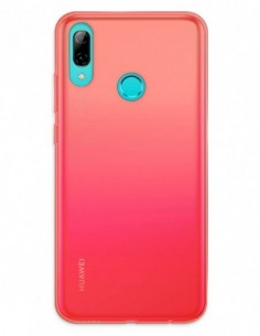 Funda Gel Silicona Liso Rojo para Huawei P Smart (2019)