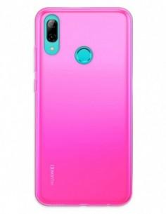 Funda Gel Silicona Liso Rosa para Huawei P Smart (2019)