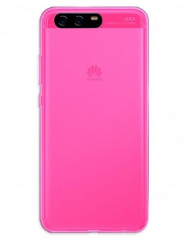 Funda Gel Silicona Liso Rosa para Huawei P10