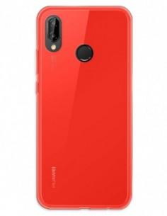 Funda Gel Silicona Liso Rojo para Huawei P20 Lite