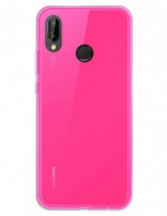 Funda Gel Silicona Liso Rosa para Huawei P20 Lite