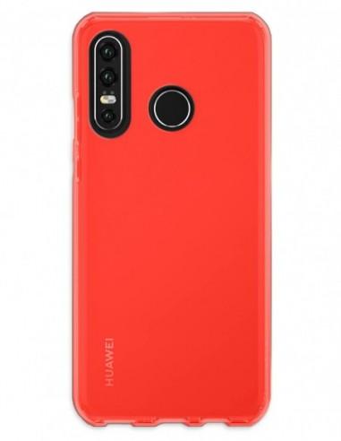 Funda Gel Silicona Liso Rojo para Huawei P30 Lite