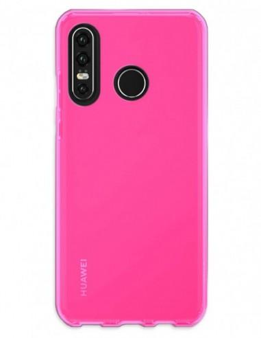 Funda Gel Silicona Liso Rosa para Huawei P30 Lite