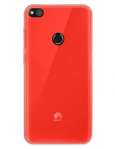 Funda Gel Silicona Liso Rojo para Huawei P8 Lite (2017)