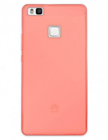 Funda Gel Silicona Liso Rojo para Huawei P9 Lite