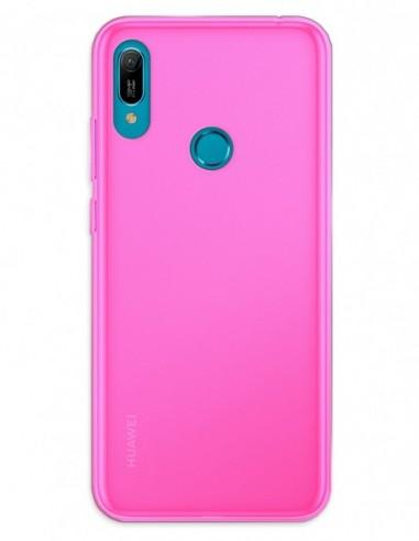 Funda Gel Silicona Liso Rosa para Huawei Y6 (2019)
