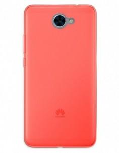 Funda Gel Silicona Liso Rojo para Huawei Y7 (2017)