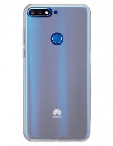 Funda Gel Silicona Liso Mate para Huawei Y7 Prime (2018)
