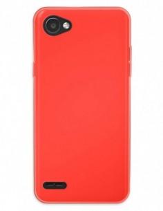 Funda Gel Silicona Liso Rojo para Lg Q6