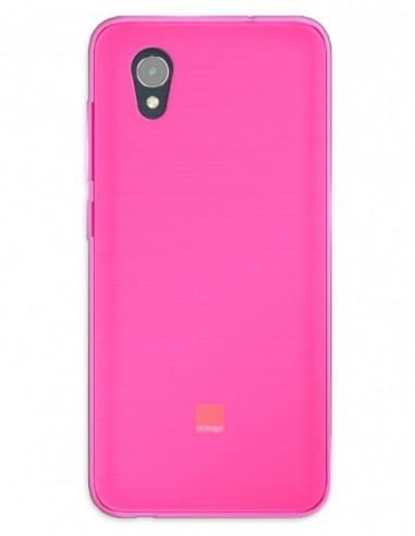 Funda Gel Silicona Liso Rosa para Orange Rise 54