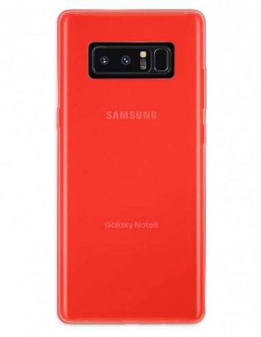 Funda Gel Silicona Liso Rojo para Samsung Galaxy Note 8