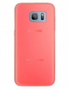 Funda Gel Silicona Liso Rojo para Samsung Galaxy S7 Edge