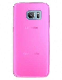 Funda Gel Silicona Liso Rosa para Samsung Galaxy S7 Edge
