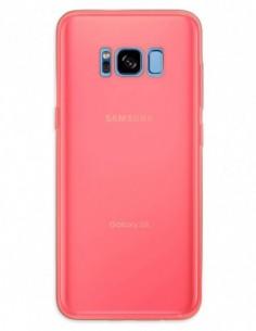 Funda Gel Silicona Liso Rojo para Samsung Galaxy S8
