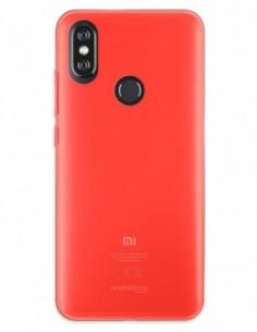 Funda Gel Silicona Liso Rojo para Xiaomi Mi A2