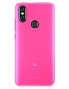 Funda Gel Silicona Liso Rosa para Xiaomi Mi A2