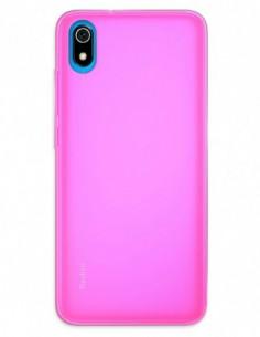 Funda Gel Silicona Liso Rosa para Xiaomi Redmi 7A