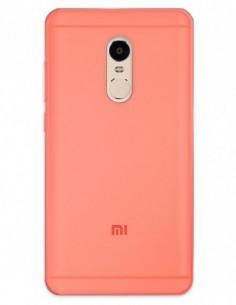 Funda Gel Silicona Liso Rojo para Xiaomi Redmi Note 4