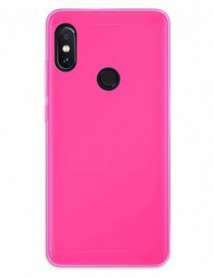Funda Gel Silicona Liso Rosa para Xiaomi Redmi Note 5