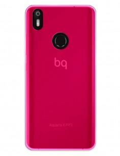 Funda Gel Silicona Liso Rosa para Bq Aquaris X Pro