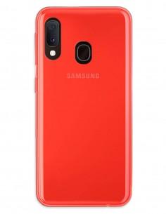 Funda Gel Silicona Liso Rojo para Samsung Galaxy A20E